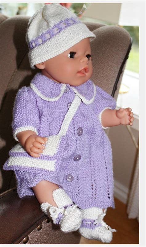 free knitting patterns for 18 inch baby dolls baby doll dress crochet pattern