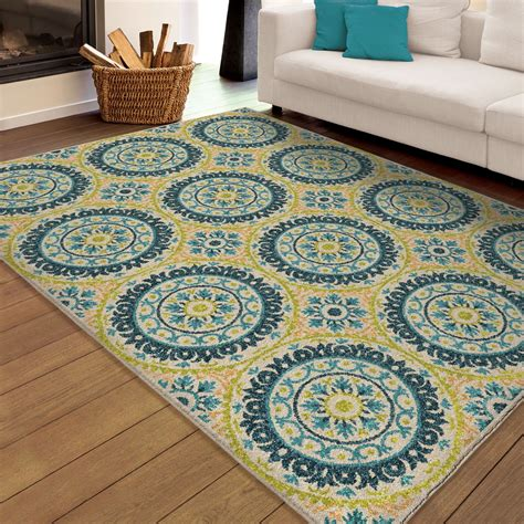 large indoor outdoor area rugs orian rugs indoor outdoor medallion hamilton multi area