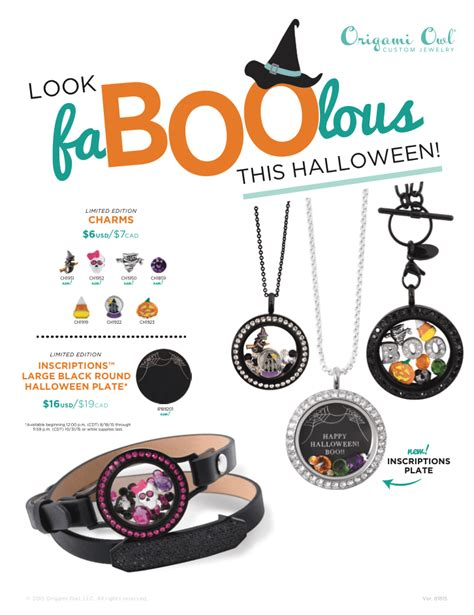 origami owl fall trick or treat with origami owl s spooktacular