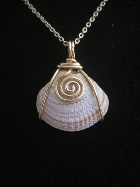 how to make jewelry from shells wire wrapped shell pendant my creations