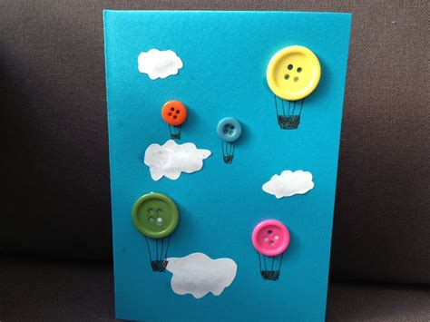 birthday crafts for button air balloons my kid craft