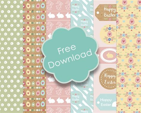 free craft papers printable easter papers tags printable decor