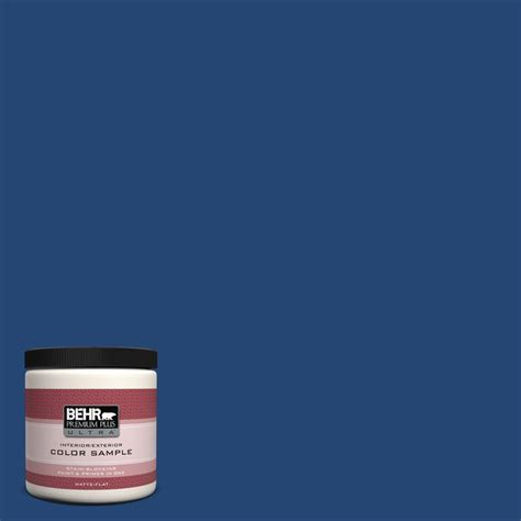 home depot paint blue behr premium plus ultra 8 oz s h 580 navy blue interior
