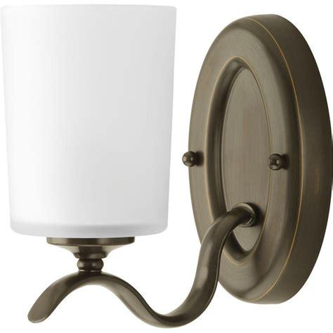 home depot lighting fixture progress lighting inspire collection 1 light antique