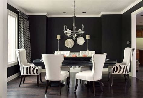black and white dining room chairs black and white dining room ideas 2017 grasscloth wallpaper