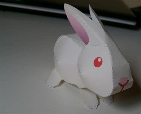 paper craft rabbit rabbit papercraft by denissensei on deviantart