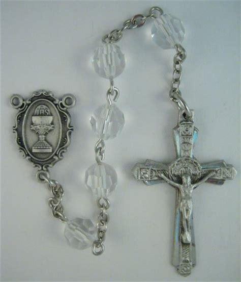 rosary bead kits communion chalice rosary kit pewter with 7mm preciosa