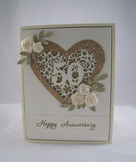 wedding anniversary cards to make golden anniversary card stinu