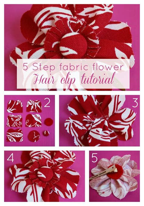 how to make fabric fabric flower tutorial