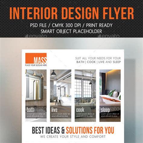 interior design flyers 25 great interior design flyer templates
