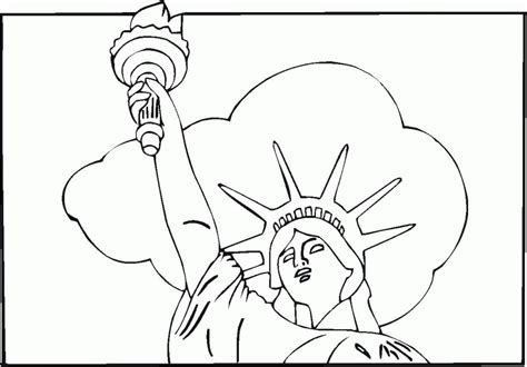 statue of liberty coloring pages coloring home