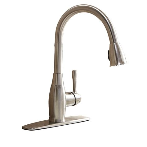 aquasource kitchen faucets aquasource fp4a4057 1 handle pull kitchen faucet lowe s canada