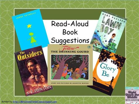 books read aloud right the middle rockin read alouds