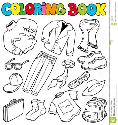 coloring book picture coloring book with apparel 1 stock vector image 16682463
