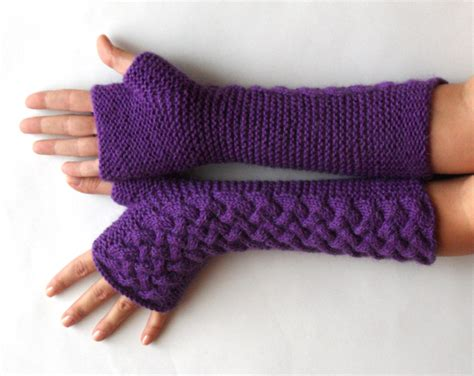 fingerless gloves knitting pattern circular needles knit pattern for cable fingerless gloves p0007
