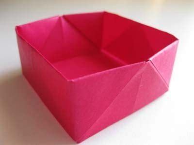 collapsible origami box easy origami box folding origami