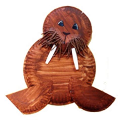 walrus paper plate craft walrus crafts and learning activities for