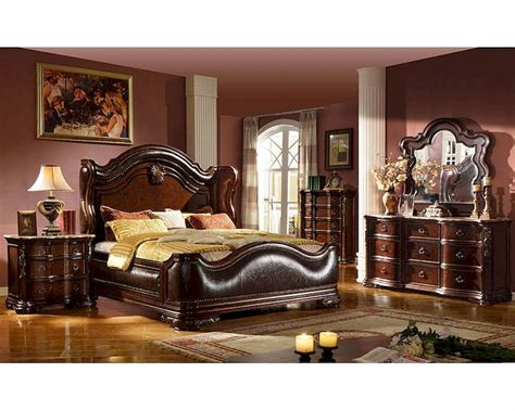 traditional style bedroom furniture traditional style bedroom set w uphostered bed mcfb3000set