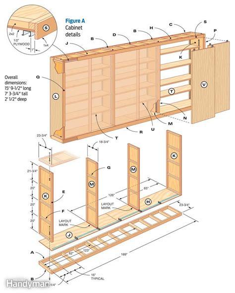 garage storage design plans diy garage cabinet the family handyman