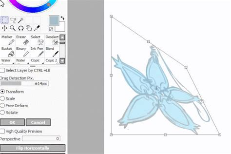 paint tool sai perspective ruler the reference