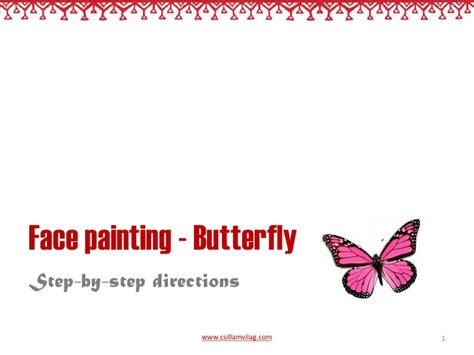 butterfly step by step butterfly facepainting step by step directions