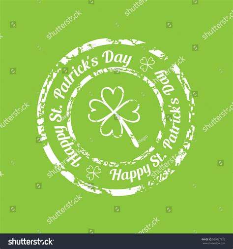 rubber st text generator white grunge rubber st clover text stock vector