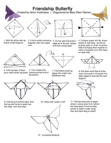 origami butterfly pdf august 2016 monthly feature origami page friendship