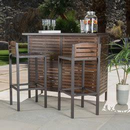 bar set patio furniture patio bar bar height furniture wayfair
