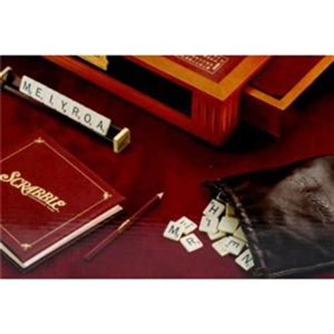 scrabble onyx scrabble premier wood deluxe edition onyx luxury leather