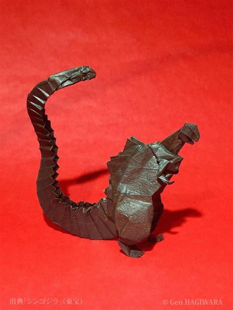 how to make an origami godzilla origami shin godzilla by h on deviantart