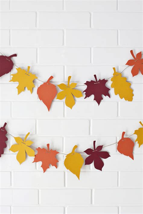 fall crafts for to make diy 10 autumn craft ideas paper leaves garlands