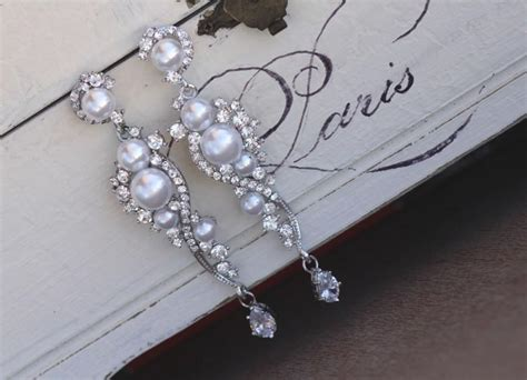 chandelier pearl earrings for wedding pearl bridal earrings and pearl dangle earrings