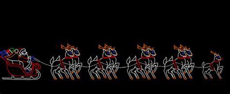 large santa large santa sleigh with deer led