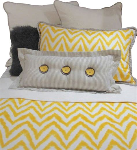 yellow and white bedding sets gray yellow and white chevron bedding and pillow