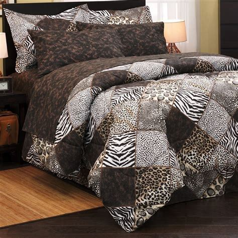 leopard print king comforter set leopard zebra safari animal print 8pc king sz comforter