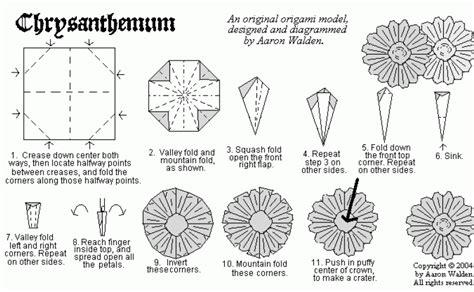 origami chrysanthemum chrysanthemum origami diagram origami flowers plantas