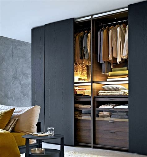 Wood Canopy Bed wardrobe with sliding doors a wonderful storage space