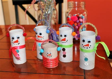 toilet paper roll snowman craft friday