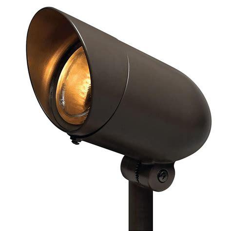 landscape lighting flood vs spot hinkley lighting 1 light bronze led outdoor spot light 54000bz led60 the home depot