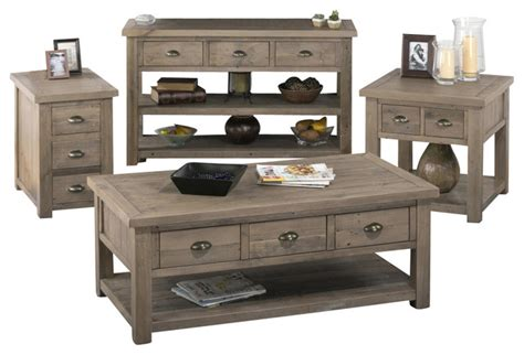 living room coffee table sets jofran 940 1 4 reclaimed pine coffee table set