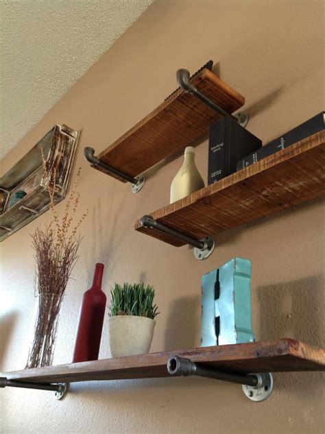 wood plank shelves industrial floating shelves use cedar planks and