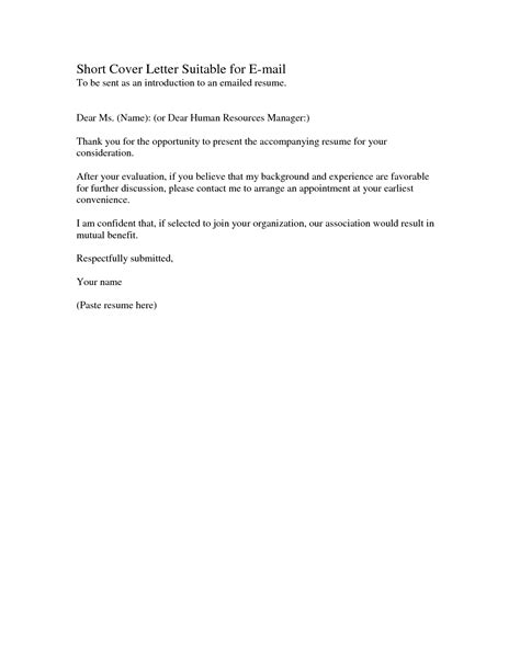best photos of short application cover letter example