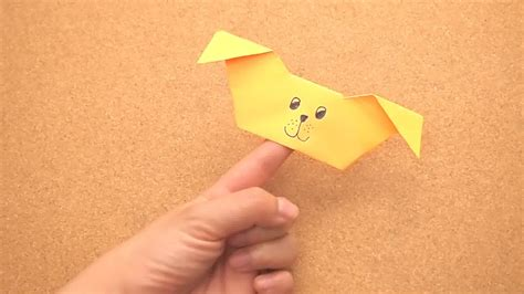 origami finger puppet how to create an origami puppy finger puppet 15 steps