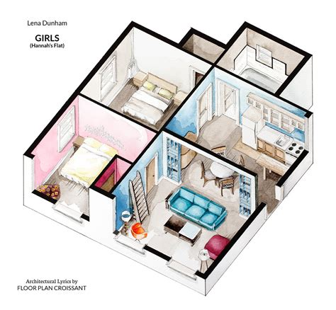 floor plans of tv show houses watercolor floorplans from recent television shows and