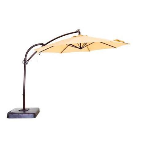 home depot patio umbrellas hton bay 11 ft solar powered patio umbrella in