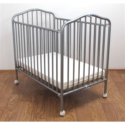 la baby portable crib la baby mini portable compact crib pewter ebay