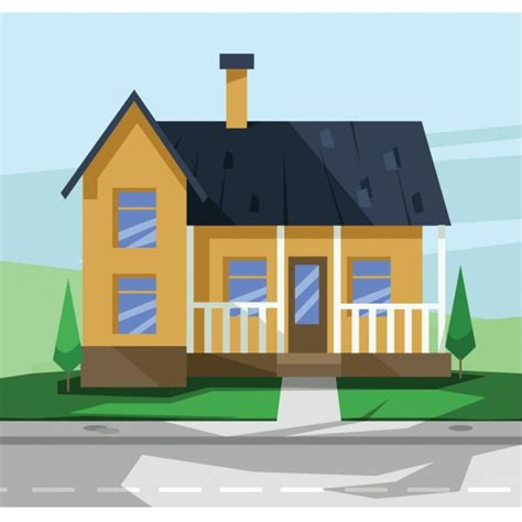 free house design flat house design vector free
