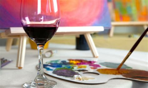 paint nite at zin wine bar painting with wine activity of the week i wine