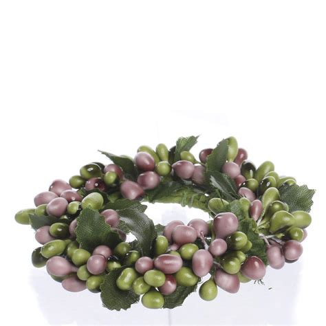 candle ring and green pip berry candle ring candles and