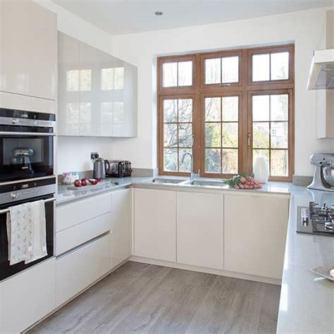u shaped kitchen modern u shaped kitchen with handleless cabinetry